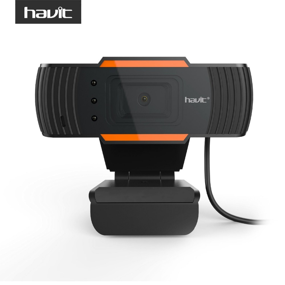 HAVIT High Quality USB Webcams <font><b>Black</b></font> PC <font><b>Web</b></font> Cam Camera for Computer Laptop Desktop Tv Webcam Without Driver HV-N5086