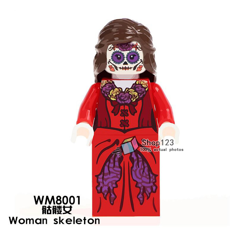 Model Building Tmgt Single Sale Wm8001 Woman Skeleton Movie Coco Day Of The Dead Holiday Building Blocks Education Learning Toys For Children 100% Guarantee Toys & Hobbies