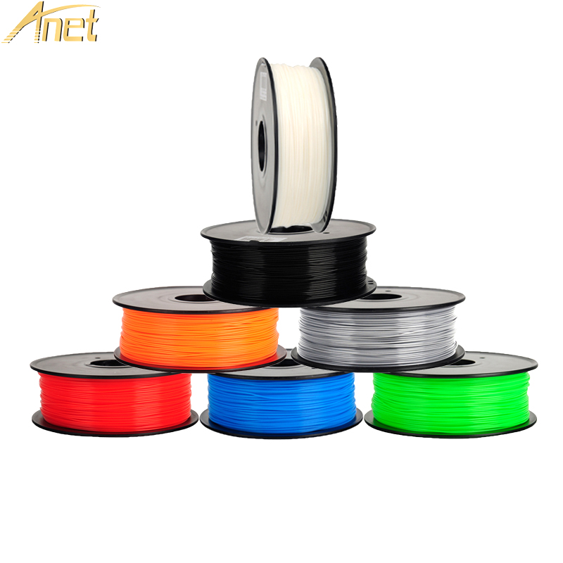 16Rolls/CTN Anet PLA ABS Filament 3D Printer Filament 0.5kg/Roll 1.75mm for MakerBot Anet RepRap 3D Printer Pen 12 Colors Option pla filament 3 00mm 1kg 2 2lbs white color for 3d printer plastic reprap wanhao makerbot free shipping