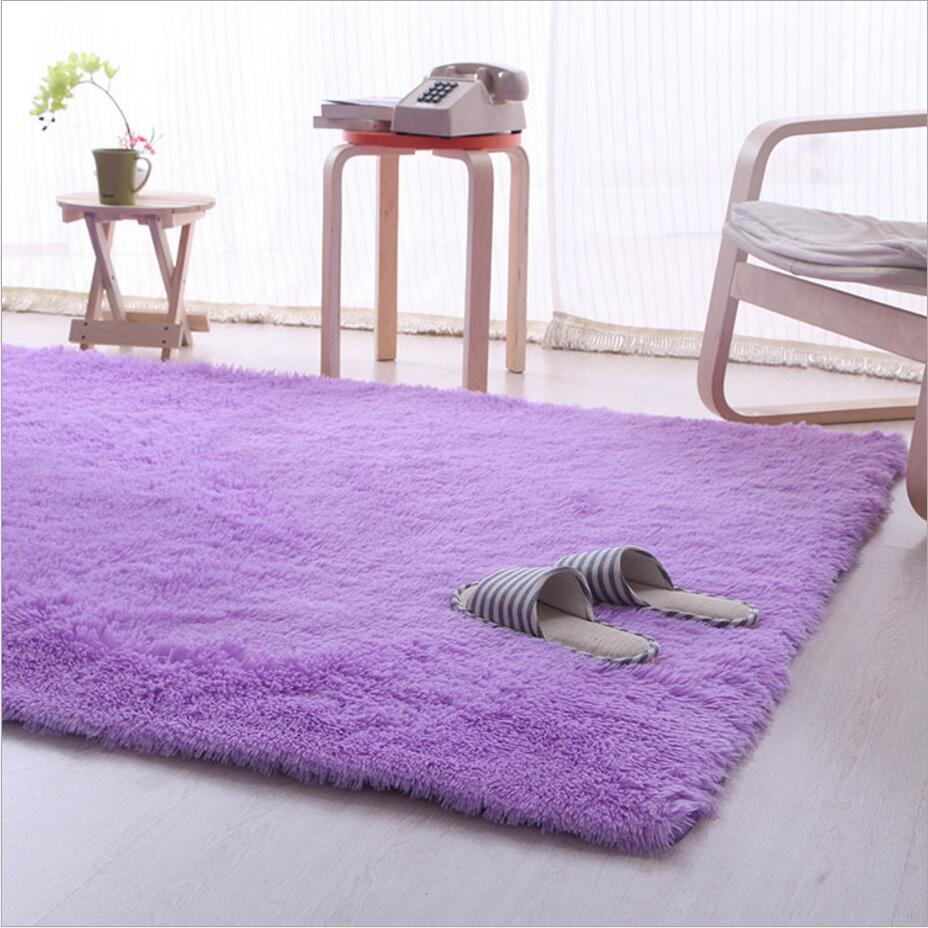 Mordern Anti Skid Plush Shaggy Area Rugs Carpet Living Room Non slip Soft Fluffy Floor Mat Dining Bedroom Home 9 Colors in Carpet from Home Garden
