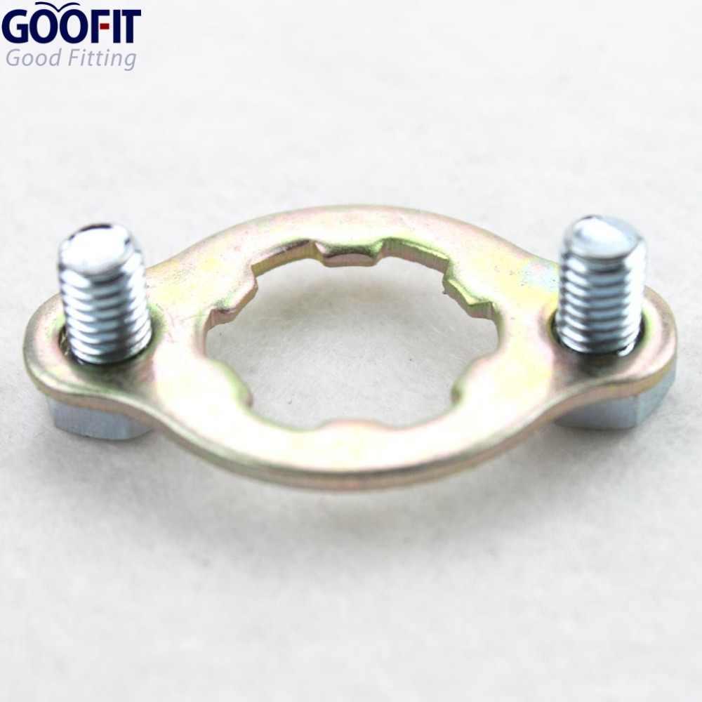 Goofit 20 mm Sprocket plat penahan set untuk 50cc 70cc 90cc 110cc 125cc 150cc 200cc 250cc ATV sepeda motor trail pergi Kart sepeda Pit