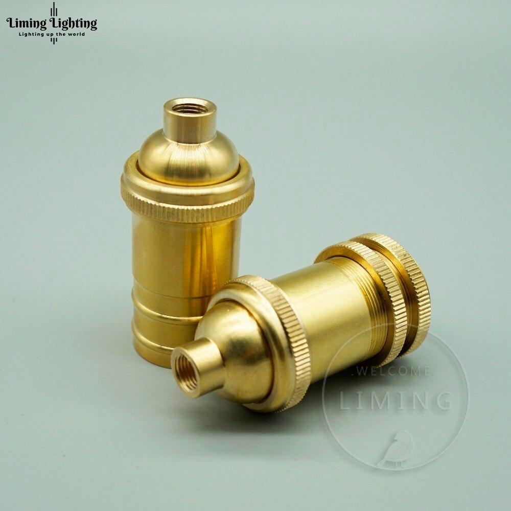 E14 Brass Light Socket Bulbs Edison Retro DIY Pendant Lamp Holder Base Retro Edison Bulb Holder Candle Light Socket