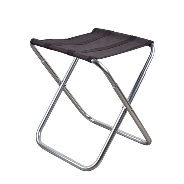 Outdoor Aluminum Alloy Folding Leisure Big Chair For Picnic And Hiking Portable Folding Chair Stool