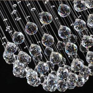 Image 5 - Modern Crystal Chandelier For Spiral Design LED Luxury Crystal Lamp Hanging Interior Ladder Corridor Lamp