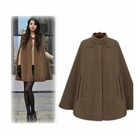 2019 autumn and winter vogue cheongsam collar woolen cloak coat women winter thick casual solid color cloak jacket female B464