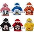 Corpo Mais Quente Do velo Do Bebê Coats Menino Hoodies das Camisolas do Casaco Camisa Dos Miúdos das Crianças Dos Desenhos Animados 1 pçs/lote Transporte da gota