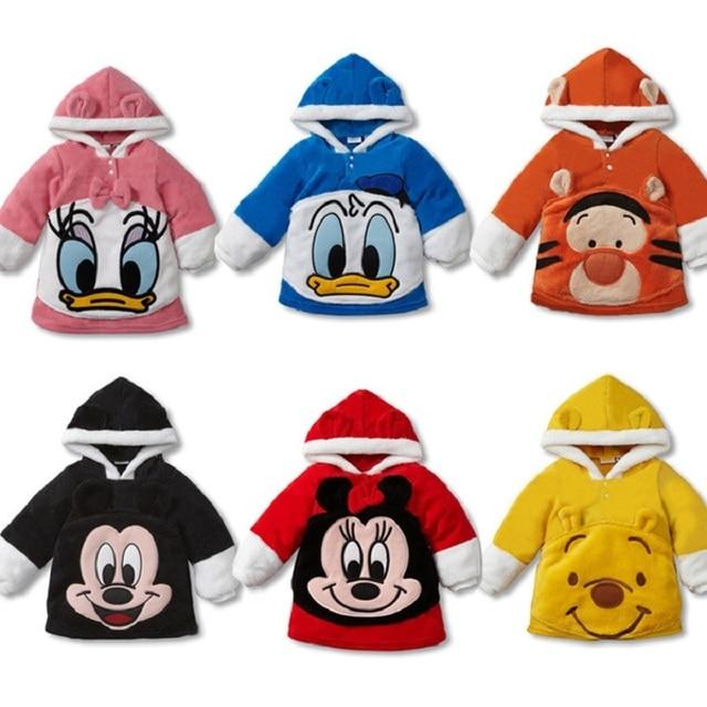 Fleece Baby Coats Body Warmer Boy's Hoodies Sweatshirts Kids' Jersey Cartoon Children's Coat 1pcs/lot Drop Shipping