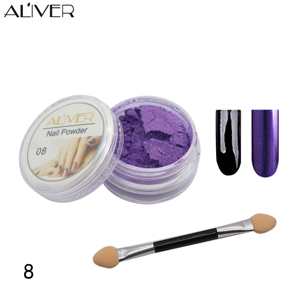 SALE! New Arrival Nail Art 15g  Mirror Powder Chrome Effect Pigment Nails New Rose Silver Nail Art For 12 Color