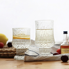 Retro-relief glass Whisky glass, Red wine cup, Juice Japanese sake Western cup