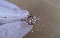 Genuine 2 Carat Cushion Cut NSCD Simulated Gem Wedding engagement Rings,Genuine 585 Rings for women