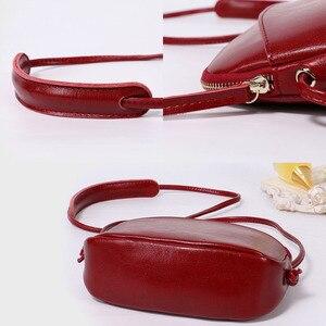 Image 5 - Zency Милая женская сумка мессенджер из 100% натуральной кожи, мягкая кожа, для девушек, сумка для путешествий, элегантная сумка на плечо, дамские сумки для телефона