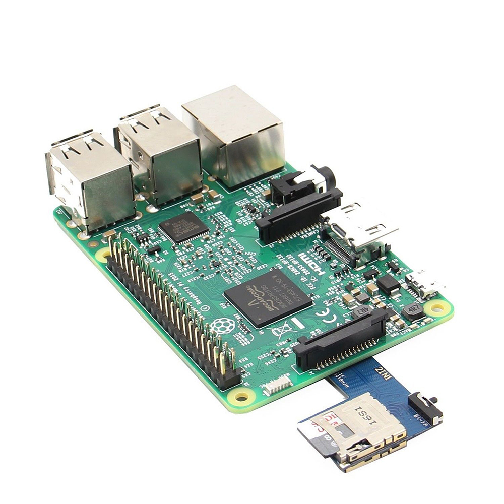 US $8 4 22% OFF 2 In 1 Dual System Switcher Dual TF Card Adapter Memory  Board Dual TF Card Reader Micro SD For Raspberry Pi 3 Zero W B+ /2B /3B-in