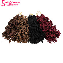 3packs/Lot 24 Strands/Pack 10 18inch Synthetic Faux Locs Curly Crochet Braids Hair Extension Locks Sallyhair For Black Women