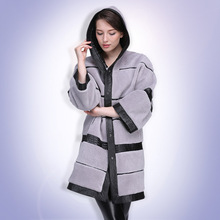 European Style Newest Arrival Women Winter Warm Long Faux Wool Coat Covered Button Slim Full Sleeved Outerwear XHSD-179