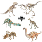 3D Wooden Puzzle Dinosaur Model Creative Puzzle Games Learning Educational Hobby Toys Gift for Kids Children Adults