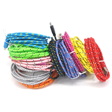 1M/2M/3M Round Hemp Braided Rope 8pin Usb Charger Sync Data Cable For iPhone 7 5/5s/5c For iphone6/plus for ipad 4/mini