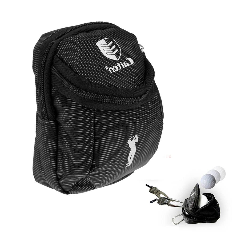 Outdoor Golf Ball Holder Bag Portable Zipper Pouch For Storage Golf Balls Tees Divot Tools Ball Markers Accessories