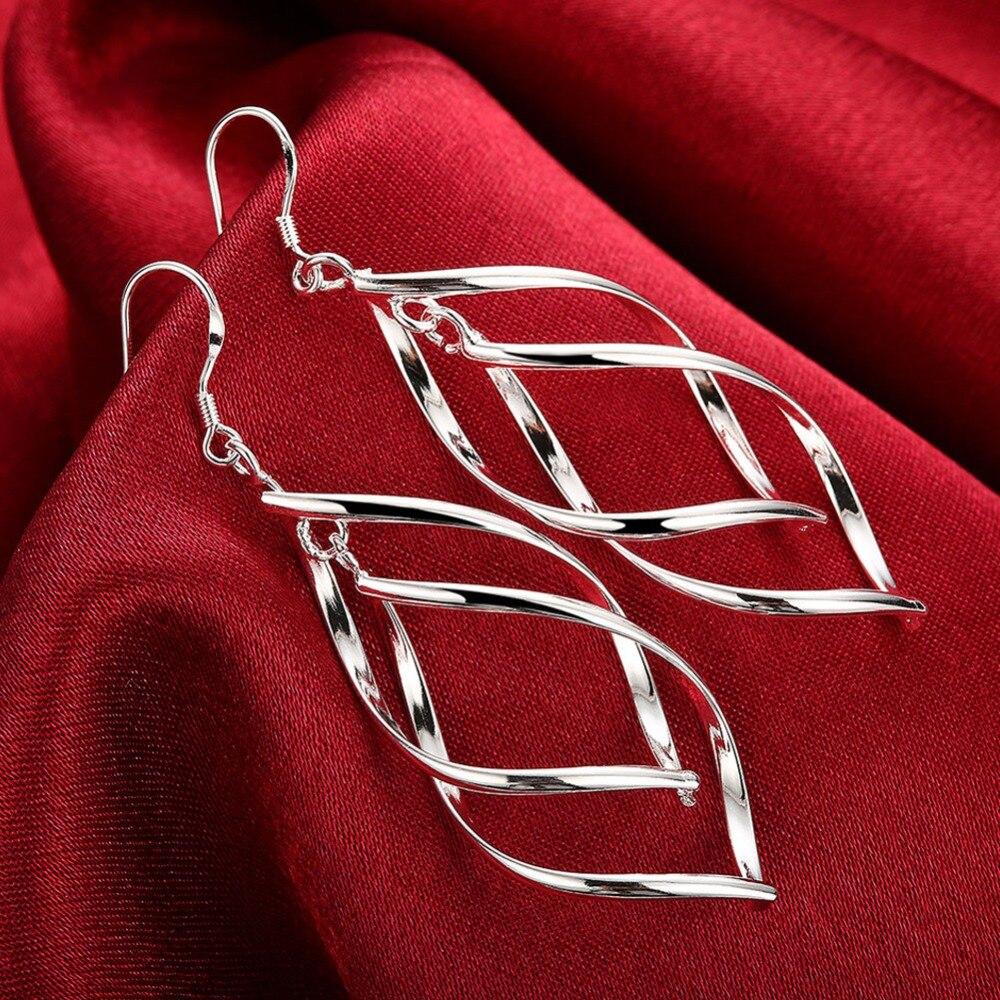 Wholesale Price 925 Sterling Silver Earrings Women's Fashion Jewelry Drop Earrings Deliver Love Wife