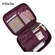 Waterproof Oxford Portable Cosmetic Bag Women Travel Make up Toiletry Bag Fashion Necessaries Makeup Organizer Case Men Wash Bag