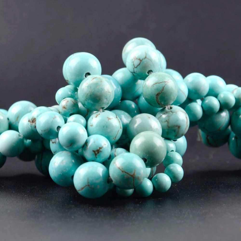 """4 6 8 10 12mm Natürliche Mineralien 7 Chakra Healing Stones Amethysten Lapis Lazuli Türkisen Verkrustete Runde Perlen Für Diy schmuck Machen 15"""""""