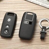 2 tasten Leder Schlüssel Abdeckung Fob Fällen Für Suzuki MUX SX4 2007 2012 Vitara Swifts Smart Auto Key Leder fällen mit schlüssel Ring key2y-in Schlüsseletui für Auto aus Kraftfahrzeuge und Motorräder bei