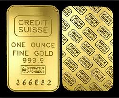 NEW Free shiping 5pcs/lot Gold Plated Layered Bullion Bar Ingot Replica coin+ laser number free 1oz CREDIT SUISSE bar