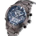 2016 fashion brand design digital LED man male clock army sport military steel gift luxury wrist quartz business watch b005