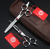 5.5 inch barber scissros set for hairdressing cutting thinning scissors