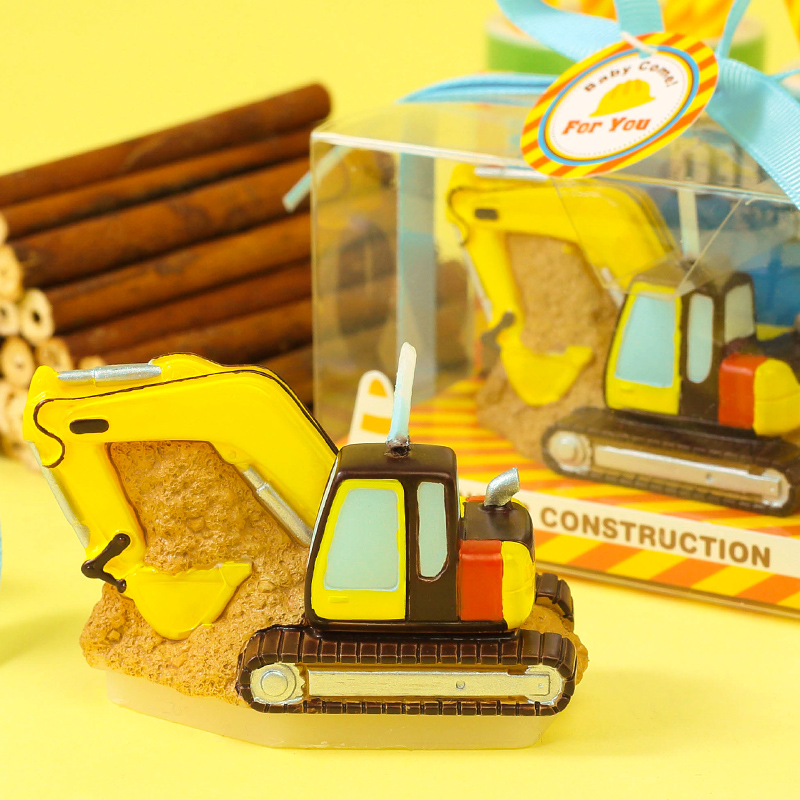 New Children's Birthday Party Decoration Creative Birthday Candle Boys Hundred Days Old Excavator Small Gifts Candles Decoration