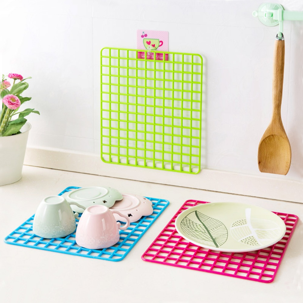 Multifunction Kitchen Placemat Plastic Filter Plate Ventilated Cabinets Pad Vegetables Dish Sink Prevent Draining Board