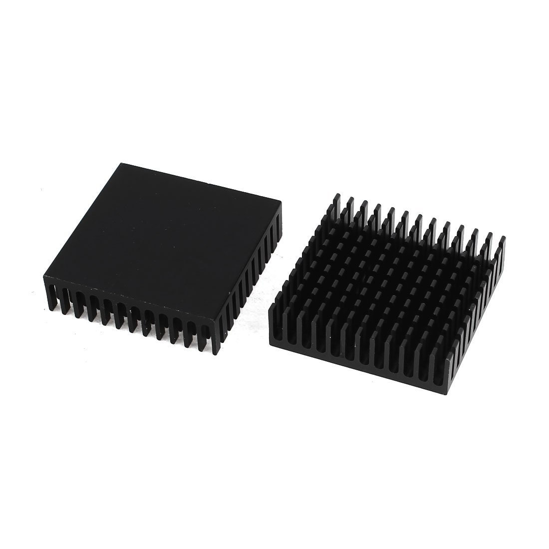 2 X Black Aluminum Radiator Heat Sink Heat Sink 40 X 40 Mm X 11 Mm