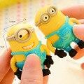 Conjuntos Removíveis Minions 3D Borracha Brinquedos Sequaz Brinquedos de Presente em Figuras de Ação
