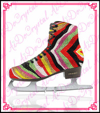 Aidocrystal Seven rainbow color Figure Skating ice skate shoes ,ice figure shoes ice skate sharpening
