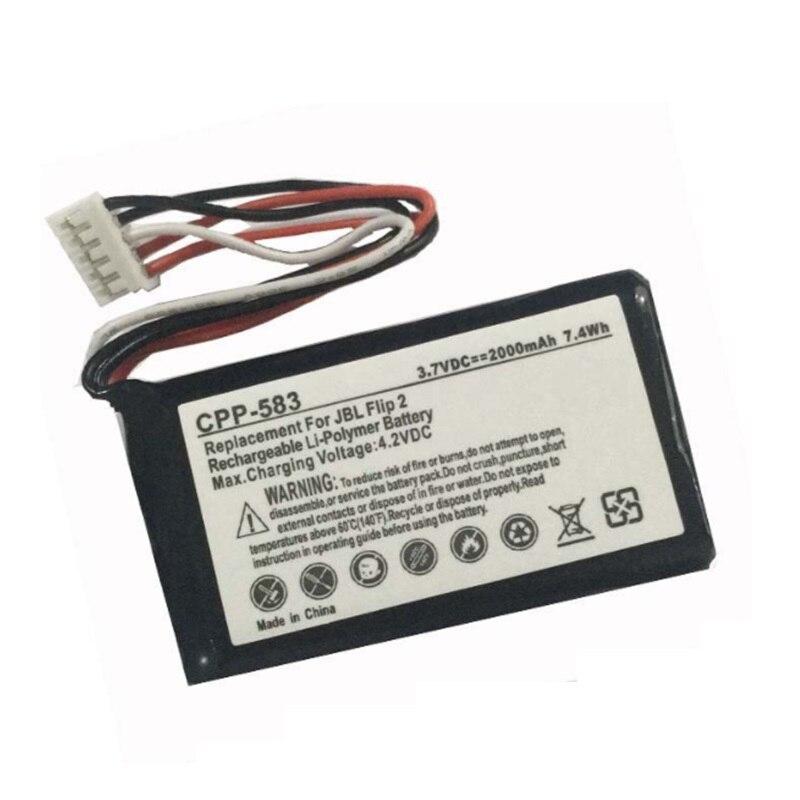 Аккумулятор для JBL Flip 2 II плеера новый литий-полимерный перезаряжаемый аккумулятор Замена 3,7 V 2000mAh AEC653055-2P