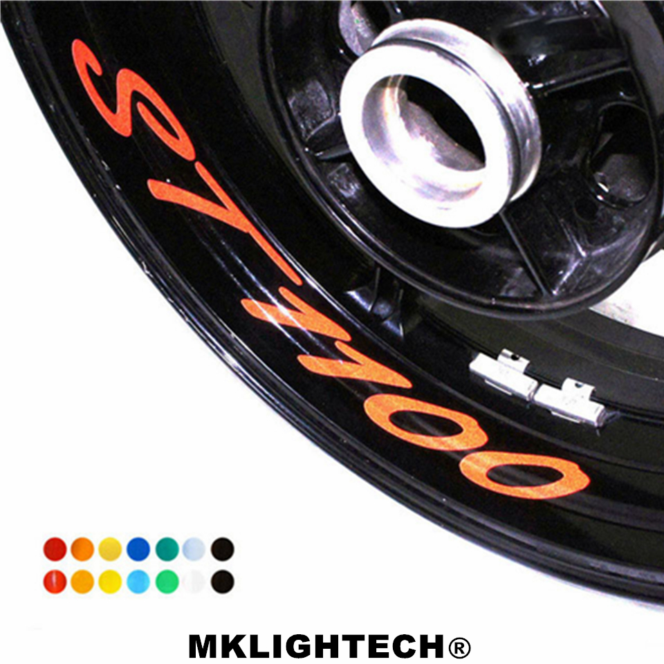 8 X CUSTOM INNER RIM DECALS WHEEL Reflective STICKERS STRIPES FIT HONDA ST 1100 in Decals Stickers from Automobiles Motorcycles