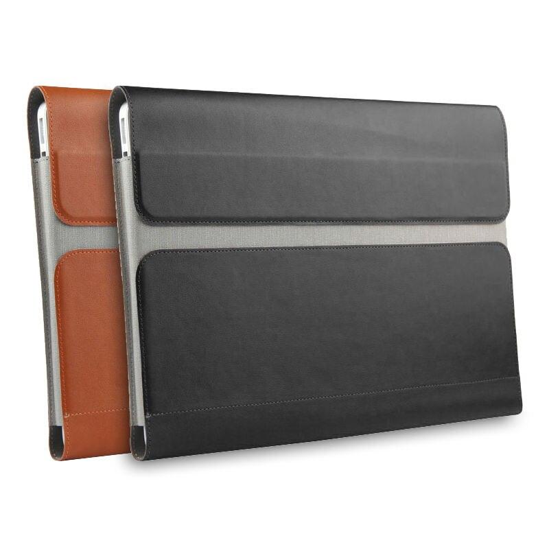 """Capace Cassa Del Manicotto Per Lenovo Yoga 6 Pro 920 13.9 """"laptop Bag In Pelle Tasca Di File Custodia Per Armi Del Computer Per Lo Yoga 920 Yoga920 Copre Computer Portatili"""