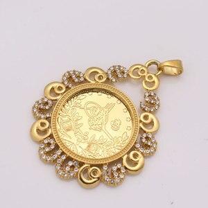 Image 4 - ZKD İslam arap sikke altın renk türkiye paraları kolye kolye müslüman osmanlı paraları takı