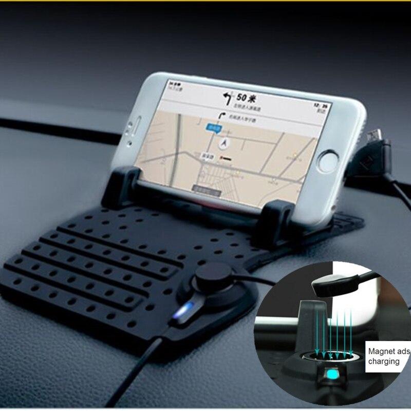imágenes para Universal Antideslizante Del Sostenedor Del Coche Para El Iphone 6 s 6 Más Caso Para IPhone 7 7 Plus Cargador de Silicona Suave Teléfono Móvil GPS de Montaje Soporte