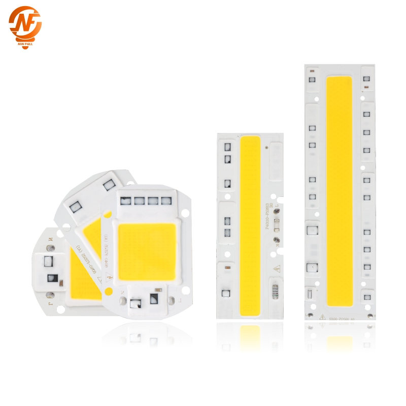 COB LED Lamp Chip 220V Smart IC No Need Driver Ampoule LED Bulb Flood Light Spotlight 10W 20W 30W 50W 70W 100W 120W Diy Lighting