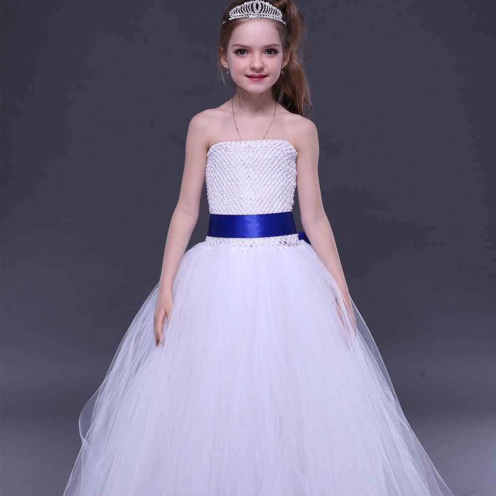 Weißes Erstkommunion-Mädchen-Ballettröckchen-Kleid mit - Kinderkleidung - Foto 3