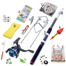 Portable Telescopic Fishing Rod Combo Sea Fishing Rod Combo Tackles Set Spinning Wheel Beginner Carp Fishing Rod Combo 2.1m-3.6m