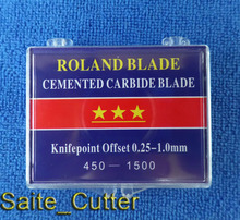 Cuchillas de 45 grados para cortador de vinilo Roland, 18 unidades, precio de fábrica, Plotter de alta calidad, envío gratis a ee. Uu.
