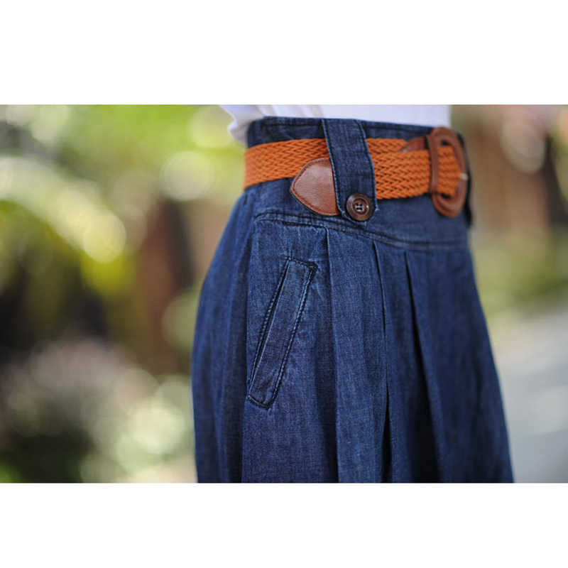 b2fcaced91 ... S-6XL plus size denim Falda larga mujer alta cintura jeans falda verano  maxi faldas ...