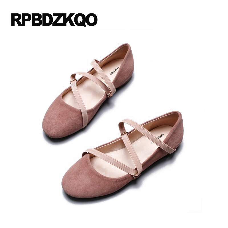 Flats Round Toe Soft Ballet Women Elastic Pink Slip On Shallow Ladies 2017 Leisure Casual Fashion Ballerina Drop Shipping Latest summer slip ons 45 46 9 women shoes for dancing pointed toe flats ballet ladies loafers soft sole low top gold silver black pink