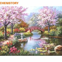 CHENISTORY Fairyland Romantic DIY Painting By Numbers Canvas Painting Home Decor Handpainted Wall Art Picture Wedding Decoration(China)