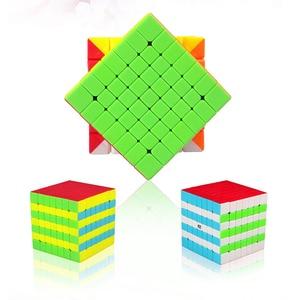 Image 4 - Qiyi Mofangge QiXing Cubo de magia negra sin pegatinas, Cubo de 7x7x7, rompecabezas de 7 capas, juguetes educativos profesionales para niños, regalo