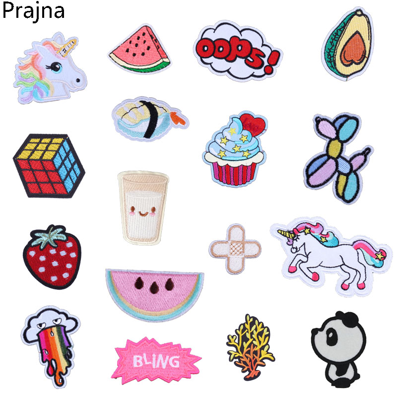 Reasonable Prajna Oops Dog Patch Milk Unicorn Applique Embroidery Patch Stripes For Clothes Anime Cartoon Iron-on Patch Badge Application Perfect In Workmanship Home & Garden