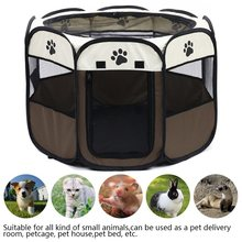 Portable Folding Pet Carrier Tent Dog House Playpen Multi-functionable Cage Dog Easy Operation Octagon Fence Breathable Cat Tent(China)