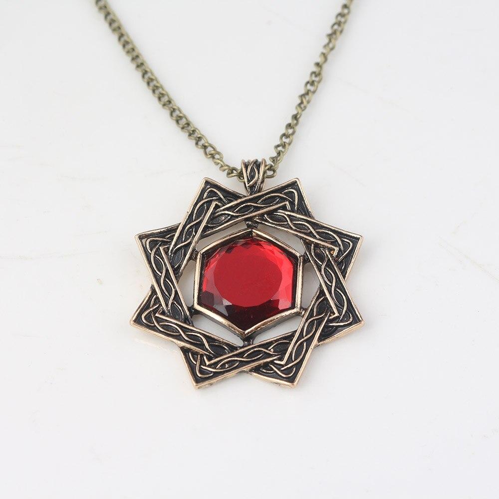 Red Bronze Stone : Sc hot game dark souls necklaces vintage bronze red