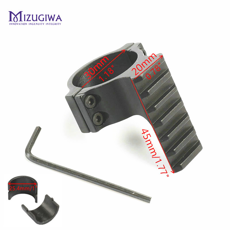 MIZUGIWA Barrel Mount 30mm Ring Adapter 20mm Weaver Picatinny Rail Rifle Pistol Airsoft Gun Base Install Scope Pistol Hunting
